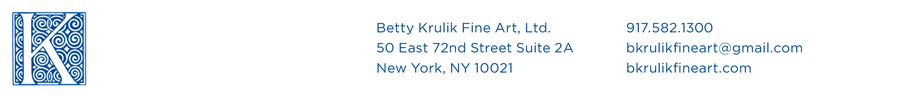 Betty Krulik Fine Art. Ltd. New York