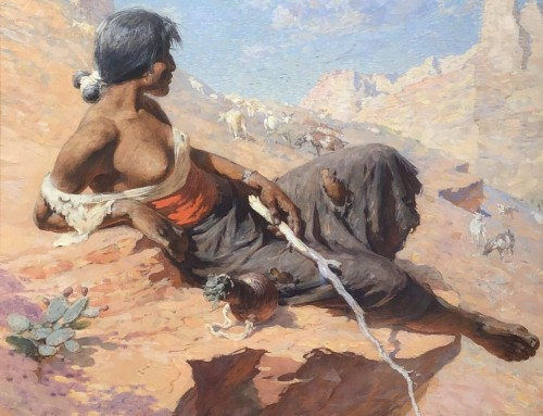 William Robinson Leigh, Indian Herder, 1912